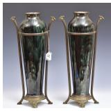 Pair of Art Nouveau Pottery Vases