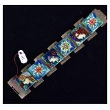 Doris Hall Enameled Bracelet