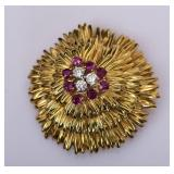 Tiffany & Co. 18k Gold Floral Brooch