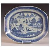Canton Blue and White Platter