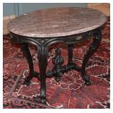 Victorian Marble Top Center Table