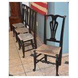 Set of Four Country Chippendale Chairs