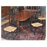 Six Country Chippendale Style Chairs