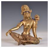 Gilt Bronze Temple Figure