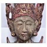 Thai Carved and Polychromed Figure