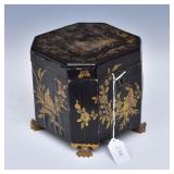 Chinese  Lacquered Tea Caddy