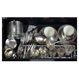Group Sterling and .800 Silver Tableware