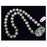 Strand of Chinese Jade Beads