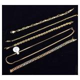 Four 14k Gold Bracelets