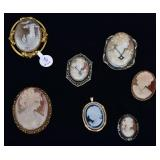 Cameo Brooches (7)