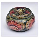 Moorcroft Brown Chrysanthemum Tobacco Jar
