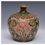 Moorcroft Brown Florian Vase