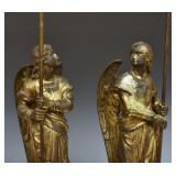 Pair of Similar French Bronze Candelabra