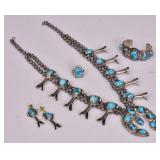 Zuni Turquoise and Silver Jewelry Ensemble