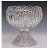 Cut Glass Two Piece Punch Bowl