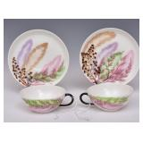 Pair of Celia Thaxter Hand Painted Tea Cups