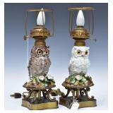 Two German Porcelain Figural Lamps