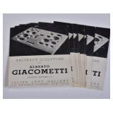 Alberto Giacometti Exhibition Catalogues (8)