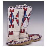 Plains Indian Beaded Boots