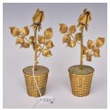 Tiffany & Co. Gilt Silver Potted Roses