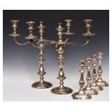 Pair of Silver Plated Candelabras