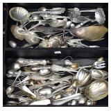 Group of Sterling Silver and Coin Flatware