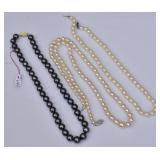 Three Strands of Cultured Pearls