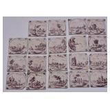 Set of Delft Tiles (19)
