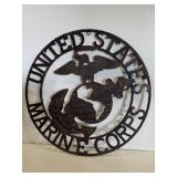 "Metal ""United States Marine Corps"" wall decor 24"