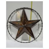Metal star wall decor 24 in