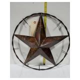 Metal star wall decor 16 in