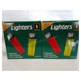 2 boxes disposable lighters