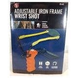 Adjustable iron frame wrist shot