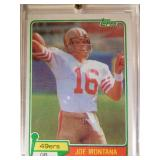 1981 Topps Joe Montana rookie card