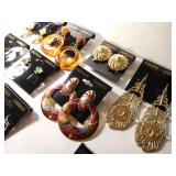 10 Pairs of  costume jewelry earrings