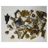 Large lot of door handles, hinges, knobs, and more