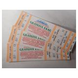 Unused 3 Grateful Dead tickets from a 1993 Show
