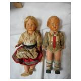 2 Antique Celluloid Dolls from 1910s-1920s