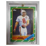 1986 Topps Football Steve Young rookie card