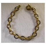 14kt Designer Link Bracelet