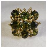 18Kt Green Sapphire and Diamond Ring