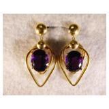 14kt Designer Amethyst Earrings