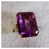 10kt Syn. Purple Sapphire Ring