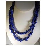 Natural Lapis Lazuli Bead Necklace