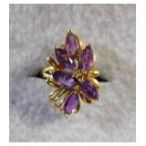 14kt Amethyst and Diamond Ring