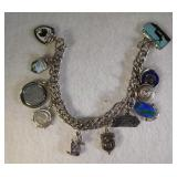 Sterling Silver Travel Charms Bracelet