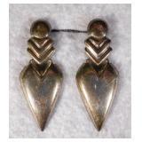 Sterling Silver Door Knocker Earrings