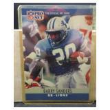 1990 NFL Pro Set Barry Sanders Rookie Card #102