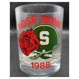 Vintage 1988 Rose Bowl Collectors Glass