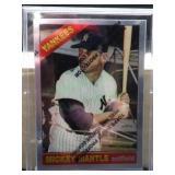 1996 Topps Mickey Mantel Reprint of 1966 Card